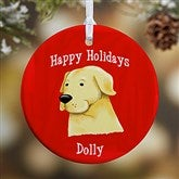 1-Sided Top Dog Breeds Personalized Ornament- Small - 11054-1