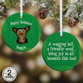 2-Sided Top Dog Breeds Personalized Ornament - Small - 11054-2