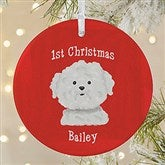 1-Sided Top Dog Breeds Personalized Ornament-Large - 11054-1L