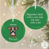 2-Sided Top Dog Breeds Personalized Ornament-Large - 11054-2L