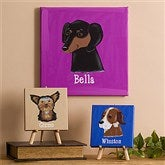 Top Dog Breeds Personalized Canvas Art--12