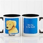 Top Dog Breeds Personalized Coffee Mug 11oz.- Black - 11075-B