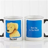 Top Dog Breeds Personalized Black Handle Coffee Mug- 11oz. - 11075-B