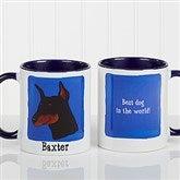 Top Dog Breeds Personalized Coffee Mug 11oz.- Blue - 11075-BL