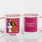 Top Dog Breeds Personalized Coffee Mug 11oz.- Pink - 11075-P
