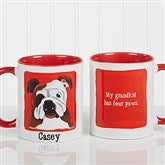 Top Dog Breeds Personalized Coffee Mug 11oz.- Red - 11075-R
