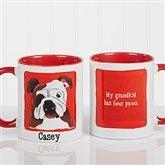 Top Dog Breeds Personalized Coffee Mug 11oz.- Red - 11075-R