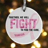 Fight To Find The Cure© Personalized Ornament - 11081