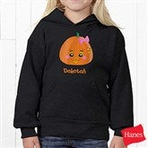 Miss Pumpkin Youth Black Hooded Sweatshirt - 11097YS