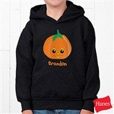 Pumpkin Pal Youth Black Hooded Sweatshirt - 11098YS