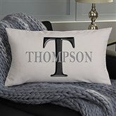 Monogram Personalized Lumbar Throw Pillow - 11113-LB