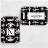 Damask Personalized Luggage Tag Set - 11124