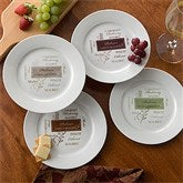 Wine Please Personalized Plate - Set of 4 - 11128