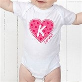 She's All Heart Personalized Baby Bodysuit - 11132-CBB