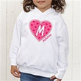 She's All Heart Colored Toddler Hooded Sweatshirt - 11132-CTHS
