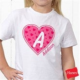 She's All Heart Personalized Hanes® Youth T-Shirt - 11132-YCT