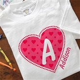 She's All Heart Personalized Youth T-Shirt - 11132-YT
