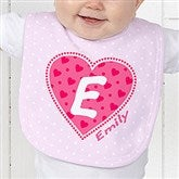 She's All Heart Personalized Baby Bib - 11132-B