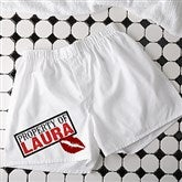 Sealed with a Kiss Personalized White Boxers - 11136