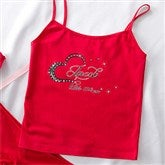 Sparkle Of My Eye Personalized Ladies Red Camisole - 11137C