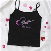 Sparkle Of My Eye Personalized Ladies Black Camisole - 11138C