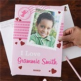 Happy Valentine's Day Personalized Oversized Photo Greeting Card - 1 Photo - 11141-1