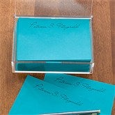 You Name It Personalized Teal Note Sheets & Caddy - 11145-T