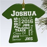 1-Sided School Spirit Personalized T-Shirt Ornament - 11154-1