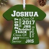 1-Sided School Spirit Personalized T-Shirt Ornament - 11154-1
