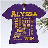 School Spirit Personalized T-Shirt Ornament - 11154