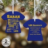 2-Sided School Spirit Personalized T-Shirt Ornament - 11154-2