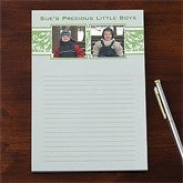 Elegant Floral Personalized Two Photo Notepad - 11156-TW