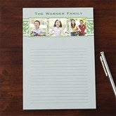 Elegant Floral Personalized Three Photo Notepad - 11156-T
