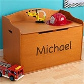 KidKraft Personalized Austin Toy Box - Honey - 11165D-H