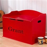 KidKraft Personalized Austin Toy Box - Red - 11165D-Red