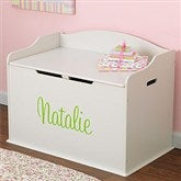 KidKraft Personalized Austin Toy Box - White - 11165D-W