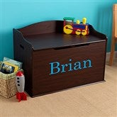 KidKraft Personalized Austin Toy Box - Espresso - 11165D-E