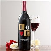 Personalized Love Wine Art-Love - 11166D-A