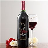 Personalized Love Wine Art-Heart - 11166D-B