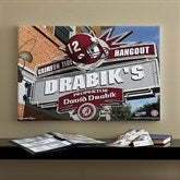 Alabama Crimson Tide Collegiate Personalized Pub Sign Canvas- 16x24 - 11167-M