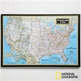 National Geographic® Classic US Personalized Canvas Map - 11168-U