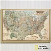 National Geographic® Executive US Personalized Canvas Map 20