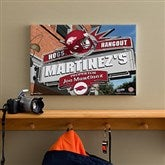 Arkansas Razorbacks Collegiate Personalized Pub Sign Canvas- 12x18 - 11173-S