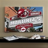 Arkansas Razorbacks Collegiate Personalized Pub Sign Canvas- 16x24 - 11173-M