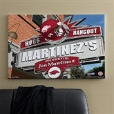 Arkansas Razorbacks Personalized Pub Sign Canvas- 24x36 - 11173-L