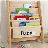 KidKraft Little Readers Personalized Sling Bookcase - Natural - 11174D-N