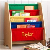 KidKraft Little Readers Personalized Sling Bookcase - Primary - 11174D-PR