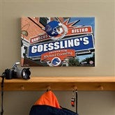 Boise State Broncos Collegiate Personalized Pub Sign Canvas- 12x18 - 11175-S
