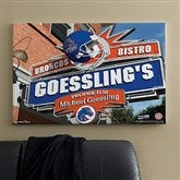 Boise State Broncos Collegiate Personalized Pub Sign Canvas- 24x36 - 11175-L