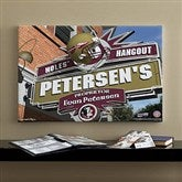 Florida State Seminoles Collegiate Personalized Pub Sign Canvas- 16x24 - 11176-M